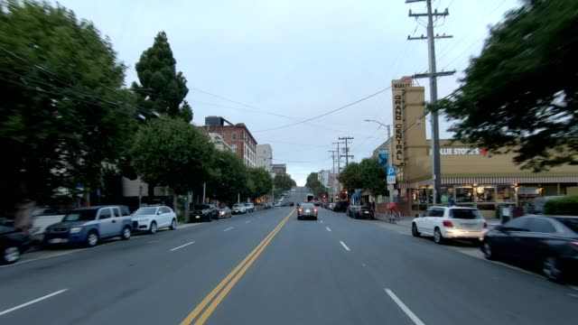 sfカリフォルニアストリートviii同期シリーズフロントビュー駆動プロセスプレート - カリフォルニアストリート点の映像素材/bロール