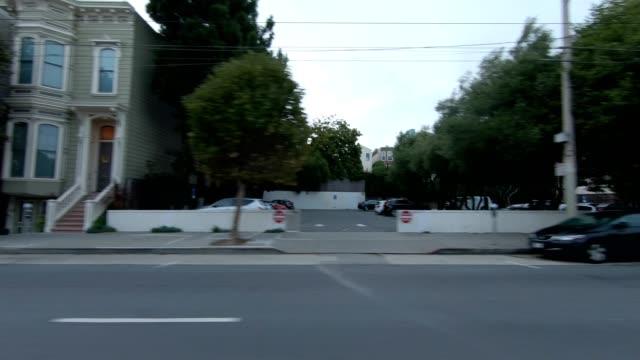 sfカリフォルニアストリートviii同期シリーズ左ビュー駆動プロセスプレート - カリフォルニアストリート点の映像素材/bロール