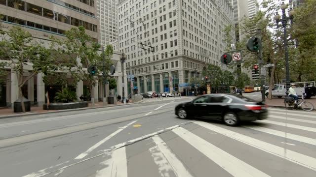 sfカリフォルニアストリートviii同期シリーズリアビュー駆動プロセスプレート - カリフォルニアストリート点の映像素材/bロール