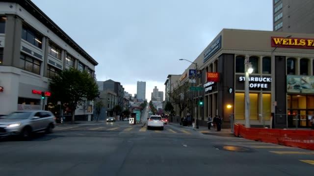 sfカリフォルニアストリートx同期シリーズフロントビュー駆動プロセスプレート - カリフォルニアストリート点の映像素材/bロール