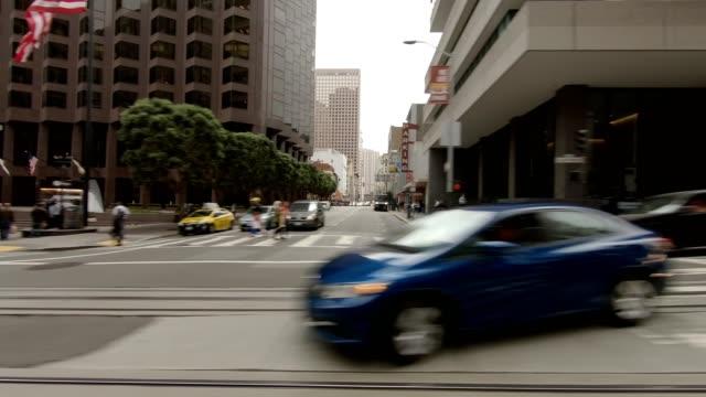 sfカリフォルニアストリートx同期シリーズ左ビュー駆動プロセスプレート - カリフォルニアストリート点の映像素材/bロール
