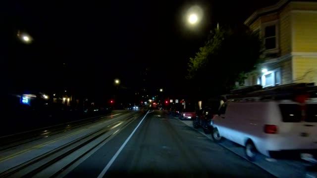 sfカリフォルニアストリートxii同期シリーズフロントビュー駆動プロセスプレート - カリフォルニアストリート点の映像素材/bロール