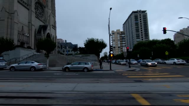sfカリフォルニアストリートxii同期シリーズ左ビュー駆動プロセスプレート - カリフォルニアストリート点の映像素材/bロール