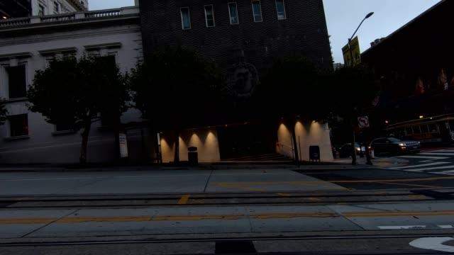 sfカリフォルニアストリートxiii同期シリーズ左ビュー駆動プロセスプレート - カリフォルニアストリート点の映像素材/bロール