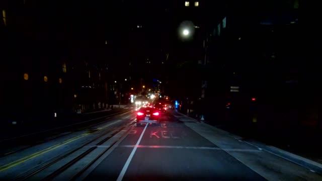 sfカリフォルニアストリートxiv同期シリーズフロントビュー駆動プロセスプレート - カリフォルニアストリート点の映像素材/bロール