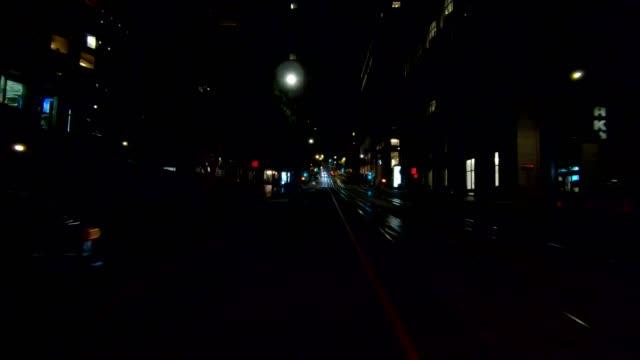 sfカリフォルニアストリートxiv同期シリーズリアビュー駆動プロセスプレート - カリフォルニアストリート点の映像素材/bロール