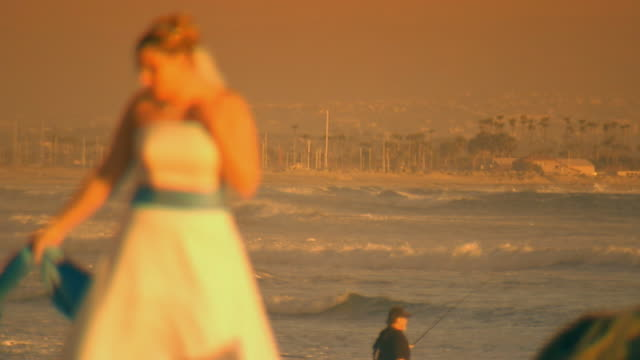 californiabride by the ocean - cast member stock videos & royalty-free footage