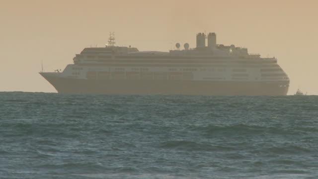 CaliforniaCruise ship sailing out to sea