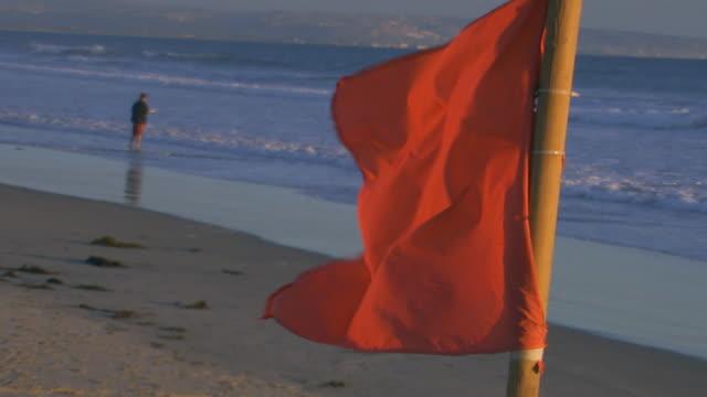 vídeos de stock, filmes e b-roll de californiaflag flying near ocean - pacífico norte
