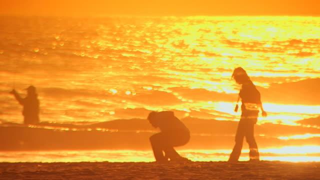 californiatwo people walking beach - nordpazifik stock-videos und b-roll-filmmaterial