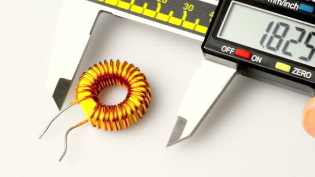 caliper measurer - calliper stock videos and b-roll footage