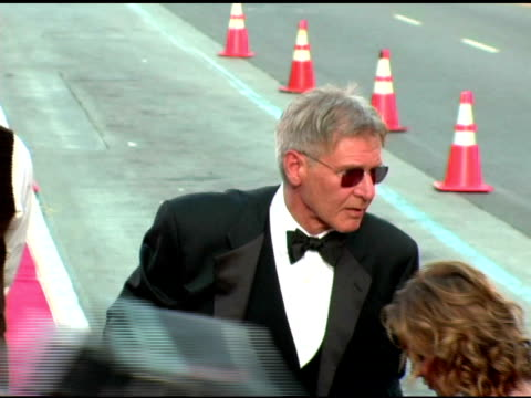 calista flockhart and harrison ford at the 33rd afi life achievement award 'a tribute to george lucas' at the kodak theatre in hollywood, california... - calista flockhart stock-videos und b-roll-filmmaterial