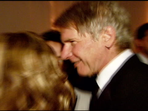 "calista flockhart and harrison ford at the the art of elysium's 10-year anniversary black tie charity gala, ""heaven"" at the vibiana in los angeles,... - calista flockhart stock-videos und b-roll-filmmaterial"