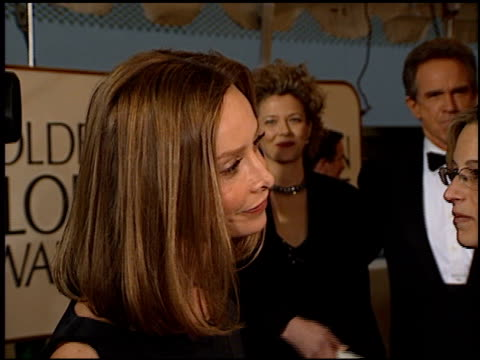 calista flockhart at the 1999 golden globe awards at the beverly hilton in beverly hills, california on january 24, 1999. - calista flockhart stock-videos und b-roll-filmmaterial