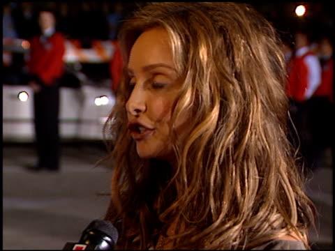 calista flockhart at the 2000 peoples choice awards at pasadena civic auditorium in pasadena, california on january 9, 2000. - パサディナ公会堂点の映像素材/bロール