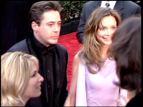 calista flockhart at the 2001 golden globe awards at the beverly hilton in beverly hills, california on january 21, 2001. - calista flockhart stock-videos und b-roll-filmmaterial
