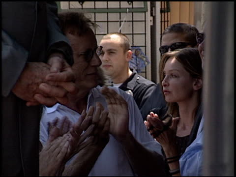 calista flockhart at the dediction of mace neufeld's walk of fame star at the hollywood walk of fame in hollywood, california on july 15, 2003. - calista flockhart stock-videos und b-roll-filmmaterial