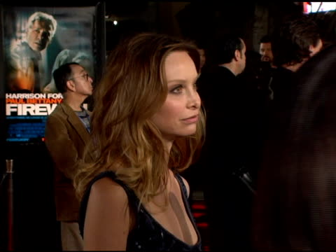 calista flockhart at the 'firewall' premiere at grauman's chinese theatre in hollywood, california on february 2, 2006. - calista flockhart stock-videos und b-roll-filmmaterial