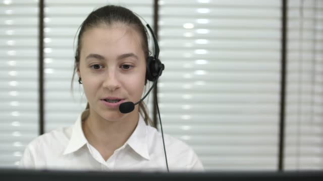call center workers wearing headsets - russian ethnicity stock videos & royalty-free footage