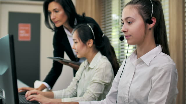 call center working using a headset - 1920 stock videos & royalty-free footage