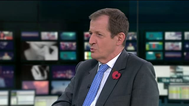 call for government to fund more mental health services england london gir int ruby wax and alastair campbell live studio interview sot - ruby wax stock-videos und b-roll-filmmaterial