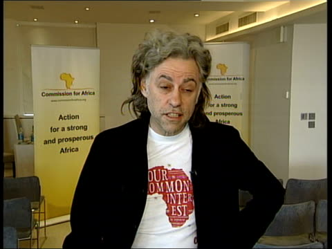 call for release of addis ababa protestors; tx 9.6.2005 england: london: int sir bob geldof interview sot i really despair/ no doubt i'll get a... - no doubt band stock videos & royalty-free footage