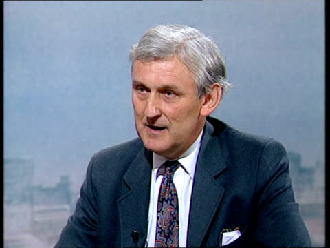 itn cms peter lloyd mp intvwd sot we want to see that time is used effectively with work training and education - mp stock-videos und b-roll-filmmaterial