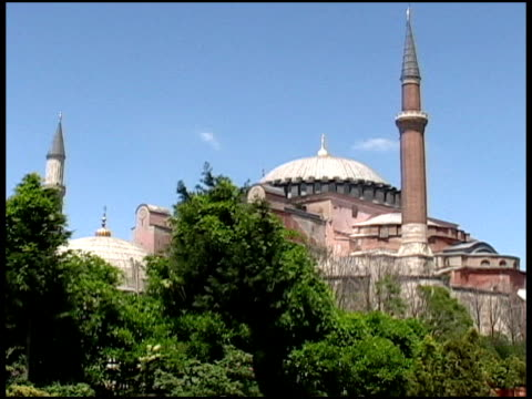 Call To Prayer At Islamic Icon: Hagia Sofia Mosque, Turkey