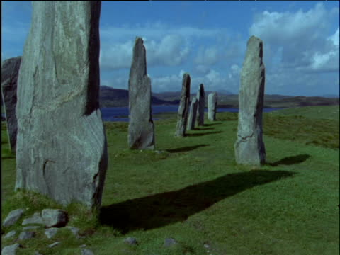 callanish standing stones isle of lewis - hebrides stock videos & royalty-free footage