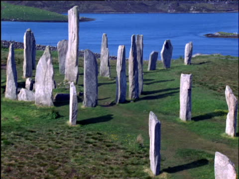 callanish standing stones - hebrides stock videos & royalty-free footage