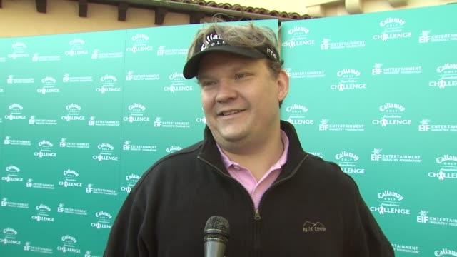vídeos y material grabado en eventos de stock de callaway golf foundation's annual procelebrity tournament pacific palisades ca 2/2/09 - gabriel aubry