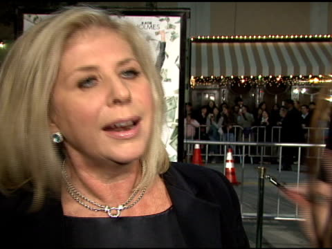 Callie Khouri on the film and the appeal of a heist film at the 'Mad Money' Premiere at the Mann Village Theatre in Westwood California on January 9...