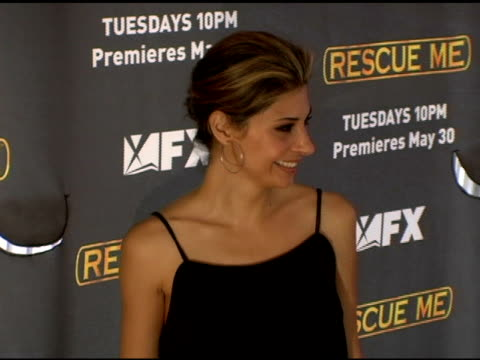 vídeos de stock, filmes e b-roll de callie thorne at the season 3 new york premiere screening of 'rescue me' at the ziegfeld theatre in new york new york on may 24 2006 - rescue me