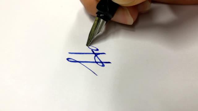 kalligraphie - kalligraphieren stock-videos und b-roll-filmmaterial