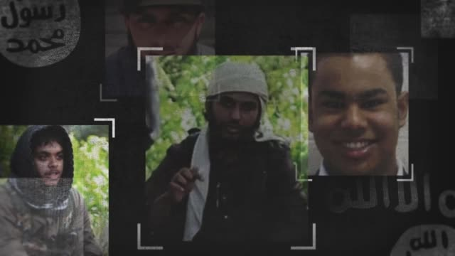 stockvideo's en b-roll-footage met calls on the uk to repatriate and put on trial captured islamic state fighters; montage britons who are thought to have joined islamic state - repatriëring
