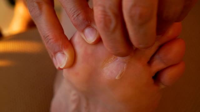 callus on the foot - pedicure stock videos & royalty-free footage