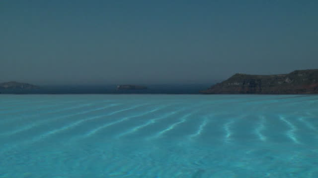 A calm and serene infinity pool