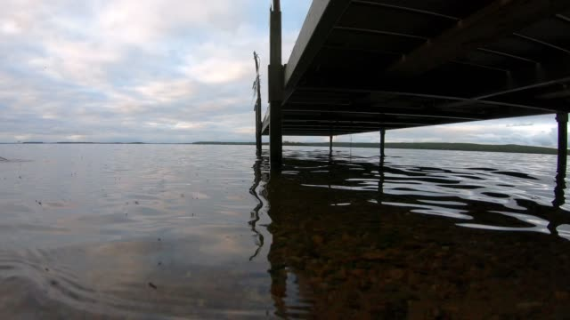 calm lakeshore dock scenes - lakeshore stock videos & royalty-free footage