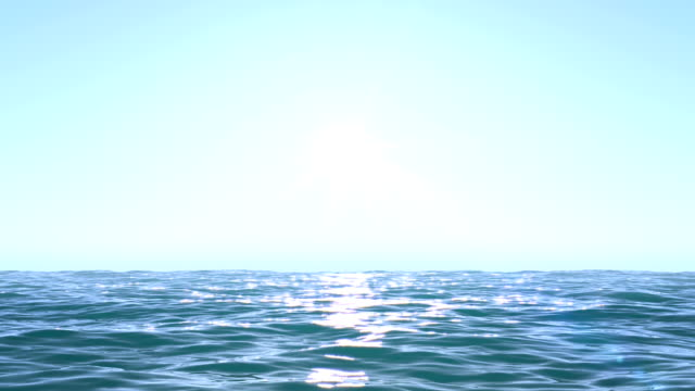 calm ocean blue morning - horizon over water stock videos & royalty-free footage