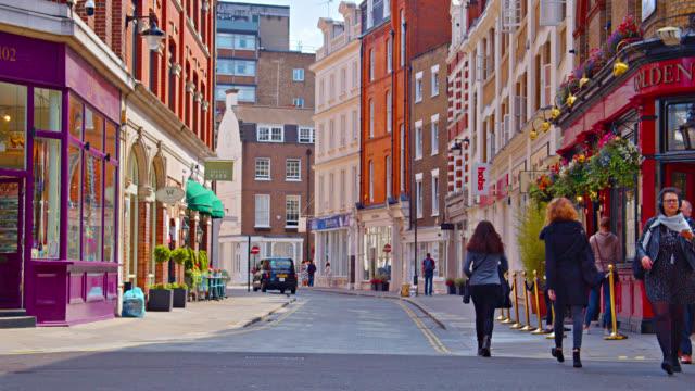 calm pacific london street - narrow stock videos & royalty-free footage