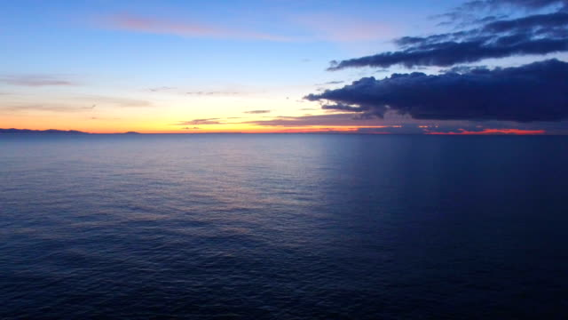 AERIAL: Calm sea in early morning