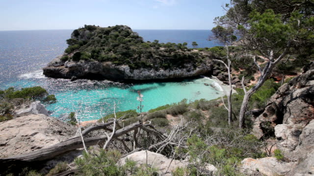 calo des moro cove - bay of water stock videos & royalty-free footage