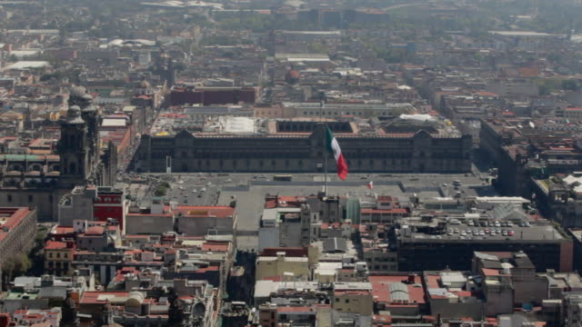 zã³calo - torre latinoamericana stock videos & royalty-free footage