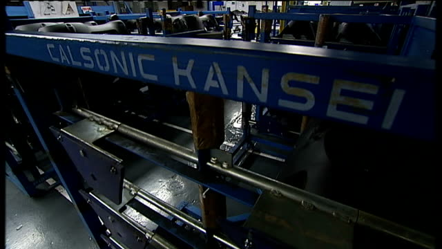 calsonic kansei car component factory england tyne and wear int gvvs calsonic kansei factory local component supplier to nissan manufacturing shots... - north east england stock videos and b-roll footage