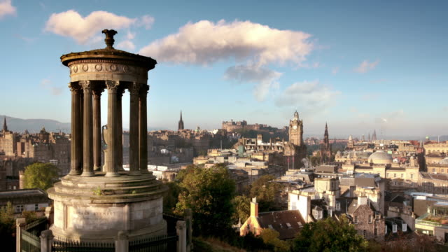 calton hill, edinburgh, scotland, uk - edinburgh scotland stock videos & royalty-free footage