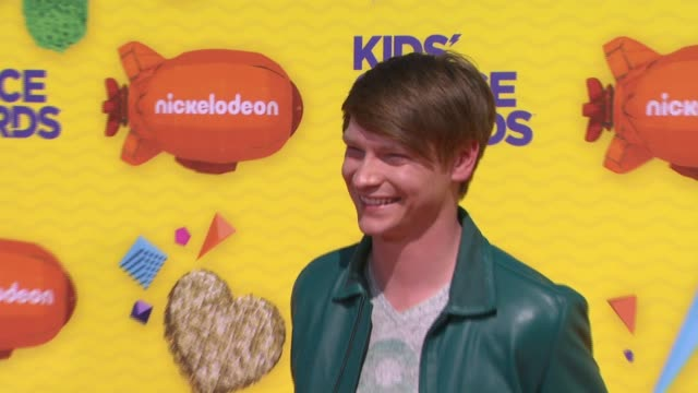 calum worthy at nickelodeon's 28th annual kids' choice awards at the forum on march 28 2015 in inglewood california - nickelodeon stock videos & royalty-free footage