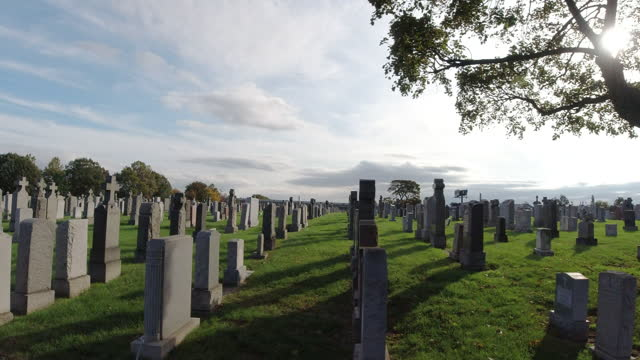 calvary cemetery - christianity stock videos & royalty-free footage