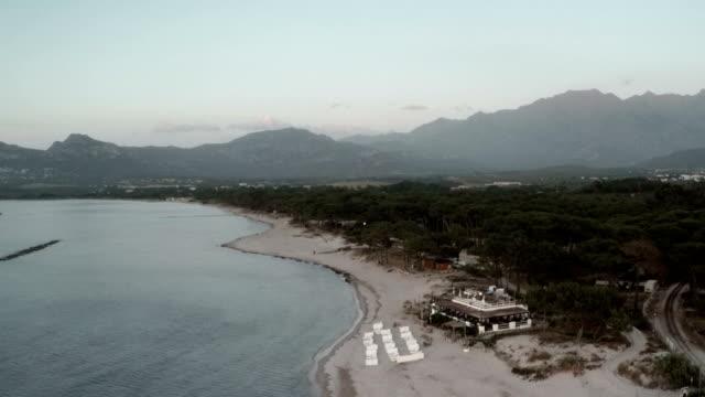 calvi at sunset, corsica - calvi stock videos and b-roll footage