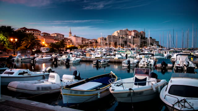 Calvi Harbor at Dusk