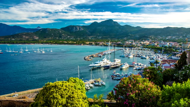 calvi port - bay of water stock videos & royalty-free footage